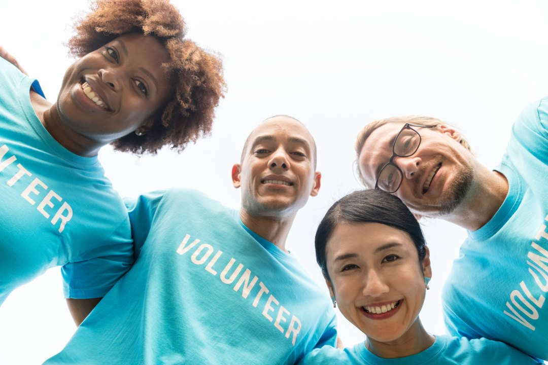 Picture of smiling volunteers